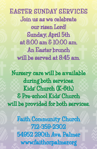 Easter Service Times 2015